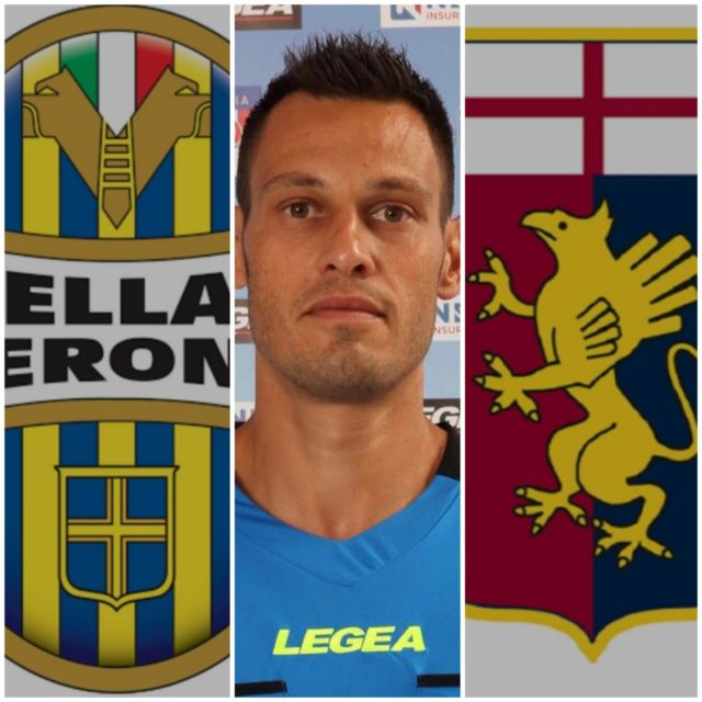 Maurizio Mariani arbitra Hellas Verona – Genoa