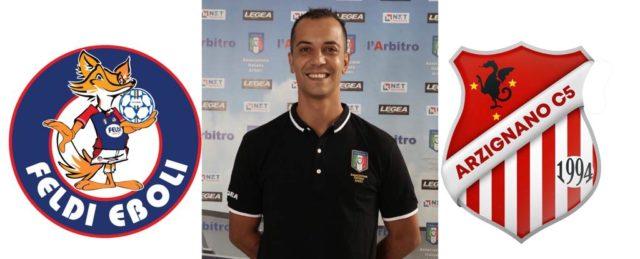 Simone Pisani arbitra: Polisportiva Eboli – Real Futsal Arziniano
