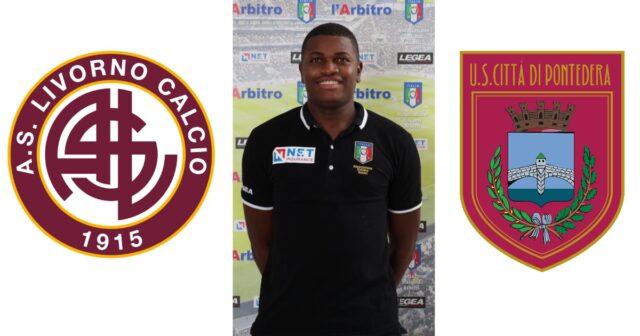 Franck Nana in: Livorno – Pontedera