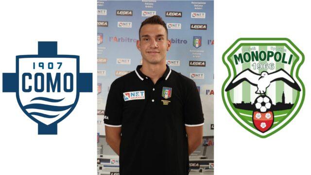 Simone Gavini nella Finale tra Calcio Como e Monopoli